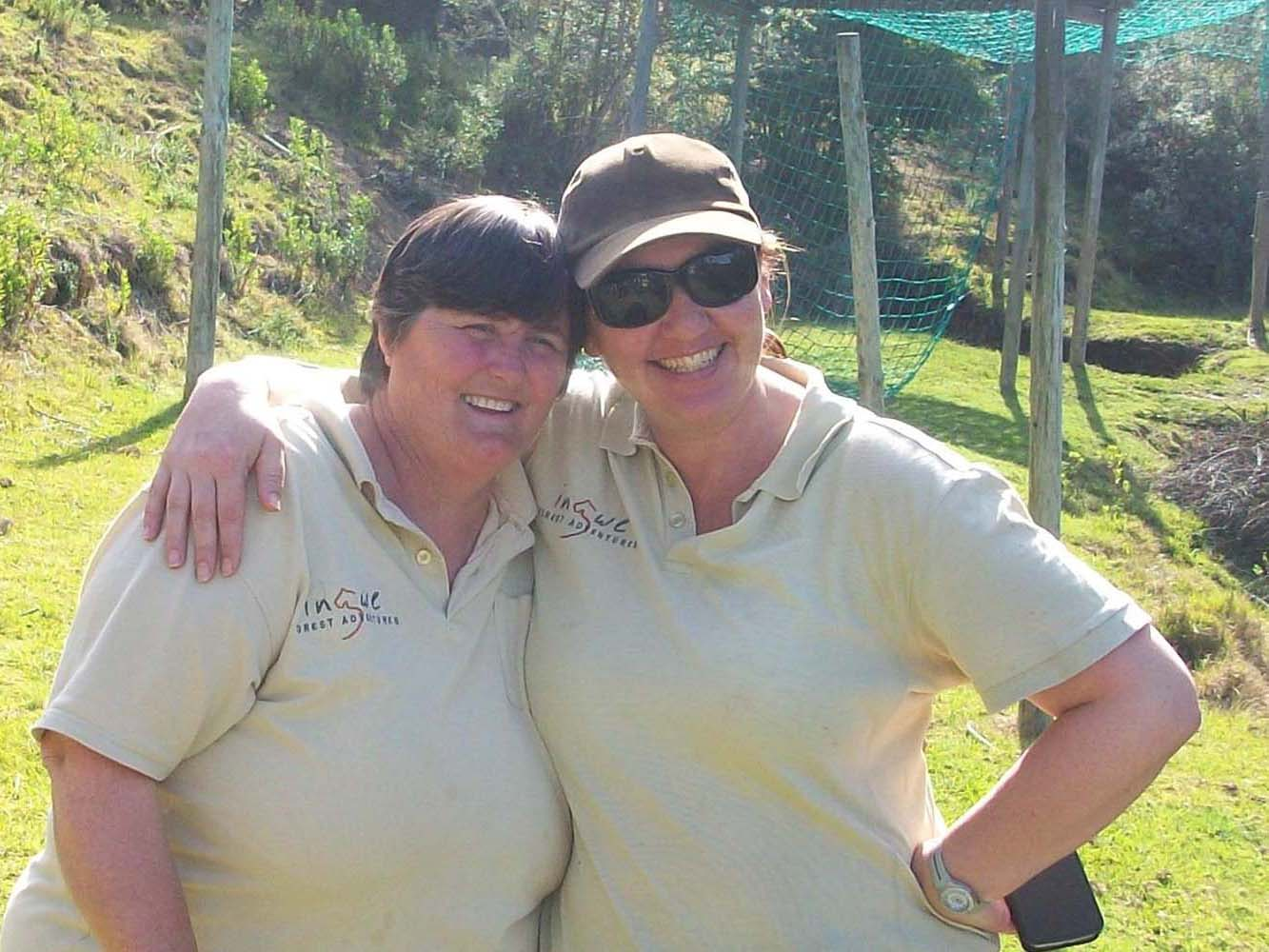 Kathy Terblanche with Debbie